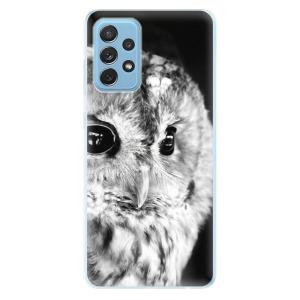 Odolné silikonové pouzdro iSaprio - BW Owl na mobil Samsung Galaxy A72