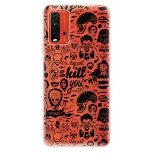 Odolné silikonové pouzdro iSaprio - Comics 01 - black na mobil Xiaomi Redmi 9T / Xiaomi Poco M3