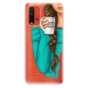 Odolné silikonové pouzdro iSaprio - My Coffe and Brunette Girl na mobil Xiaomi Redmi 9T / Xiaomi Poco M3