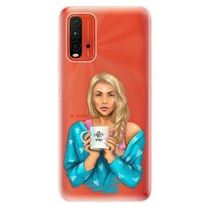 Odolné silikonové pouzdro iSaprio - Coffe Now - Blond na mobil Xiaomi Redmi 9T / Xiaomi Poco M3