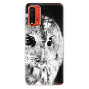 Odolné silikonové pouzdro iSaprio - BW Owl na mobil Xiaomi Redmi 9T / Xiaomi Poco M3