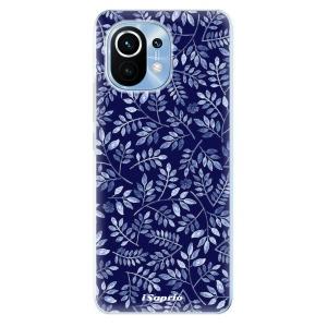 Odolné silikonové pouzdro iSaprio - Blue Leaves 05 na mobil Xiaomi Mi 11