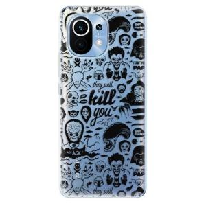 Odolné silikonové pouzdro iSaprio - Comics 01 - black na mobil Xiaomi Mi 11