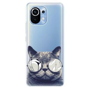 Odolné silikonové pouzdro iSaprio - Crazy Cat 01 na mobil Xiaomi Mi 11