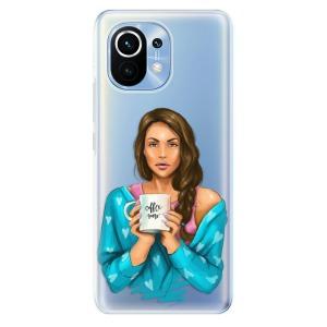 Odolné silikonové pouzdro iSaprio - Coffe Now - Brunette na mobil Xiaomi Mi 11