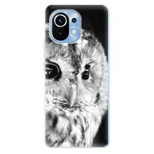 Odolné silikonové pouzdro iSaprio - BW Owl na mobil Xiaomi Mi 11