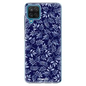 Plastové pouzdro iSaprio - Blue Leaves 05 na mobil Samsung Galaxy A12