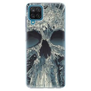 Plastové pouzdro iSaprio - Abstract Skull na mobil Samsung Galaxy A12
