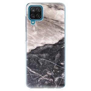 Plastové pouzdro iSaprio - BW Marble na mobil Samsung Galaxy A12