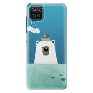 Plastové pouzdro iSaprio - Bear With Boat na mobil Samsung Galaxy A12