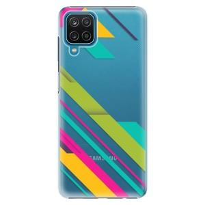 Plastové pouzdro iSaprio - Color Stripes 03 na mobil Samsung Galaxy A12