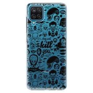 Plastové pouzdro iSaprio - Comics 01 - black na mobil Samsung Galaxy A12