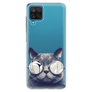 Plastové pouzdro iSaprio - Crazy Cat 01 na mobil Samsung Galaxy A12