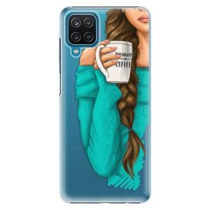 Plastové pouzdro iSaprio - My Coffe and Brunette Girl na mobil Samsung Galaxy A12