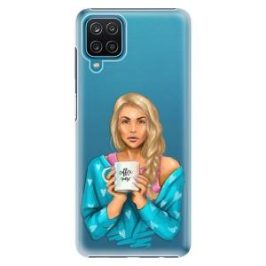 Plastové pouzdro iSaprio - Coffe Now - Blond na mobil Samsung Galaxy A12