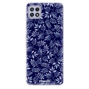 Odolné silikonové pouzdro iSaprio - Blue Leaves 05 na mobil Samsung Galaxy A22 5G