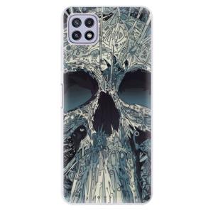 Odolné silikonové pouzdro iSaprio - Abstract Skull na mobil Samsung Galaxy A22 5G