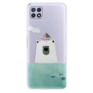 Odolné silikonové pouzdro iSaprio - Bear With Boat na mobil Samsung Galaxy A22 5G