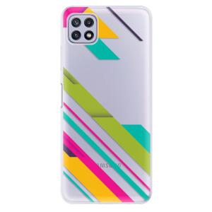 Odolné silikonové pouzdro iSaprio - Color Stripes 03 na mobil Samsung Galaxy A22 5G