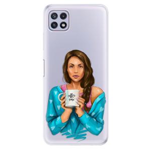 Odolné silikonové pouzdro iSaprio - Coffe Now - Brunette na mobil Samsung Galaxy A22 5G