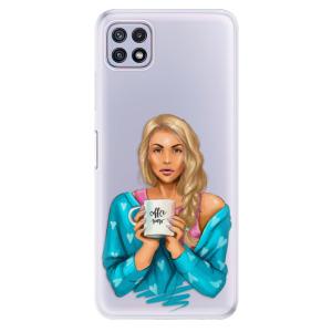 Odolné silikonové pouzdro iSaprio - Coffe Now - Blond na mobil Samsung Galaxy A22 5G