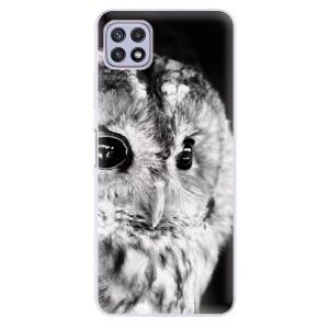 Odolné silikonové pouzdro iSaprio - BW Owl na mobil Samsung Galaxy A22 5G