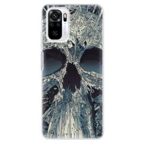 Odolné silikonové pouzdro iSaprio - Abstract Skull na mobil Xiaomi Redmi Note 10 / Xiaomi Redmi Note 10S