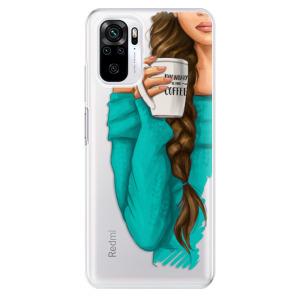 Odolné silikonové pouzdro iSaprio - My Coffe and Brunette Girl na mobil Xiaomi Redmi Note 10 / Xiaomi Redmi Note 10S