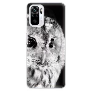Odolné silikonové pouzdro iSaprio - BW Owl na mobil Xiaomi Redmi Note 10 / Xiaomi Redmi Note 10S