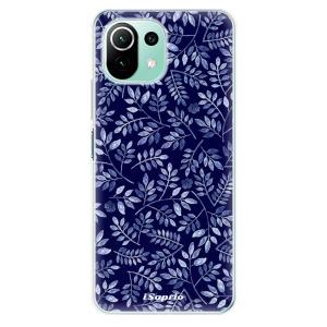 Odolné silikonové pouzdro iSaprio - Blue Leaves 05 na mobil Xiaomi Mi 11 Lite / Xiaomi 11 Lite 5G NE
