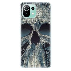 Odolné silikonové pouzdro iSaprio - Abstract Skull na mobil Xiaomi Mi 11 Lite / Xiaomi 11 Lite 5G NE