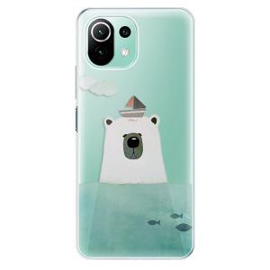 Odolné silikonové pouzdro iSaprio - Bear With Boat na mobil Xiaomi Mi 11 Lite / Xiaomi 11 Lite 5G NE