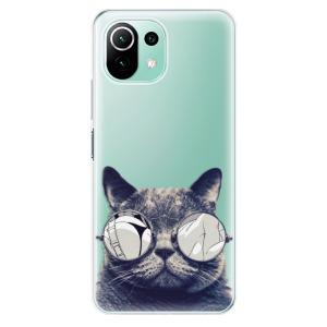 Odolné silikonové pouzdro iSaprio - Crazy Cat 01 na mobil Xiaomi Mi 11 Lite / Xiaomi 11 Lite 5G NE