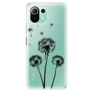 Odolné silikonové pouzdro iSaprio - Three Dandelions - black na mobil Xiaomi Mi 11 Lite / Xiaomi 11 Lite 5G NE
