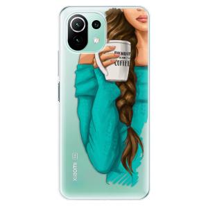 Odolné silikonové pouzdro iSaprio - My Coffe and Brunette Girl na mobil Xiaomi Mi 11 Lite / Xiaomi 11 Lite 5G NE