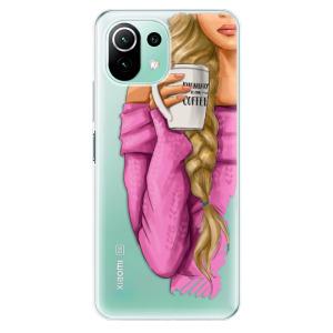 Odolné silikonové pouzdro iSaprio - My Coffe and Blond Girl na mobil Xiaomi Mi 11 Lite / Xiaomi 11 Lite 5G NE