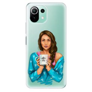 Odolné silikonové pouzdro iSaprio - Coffe Now - Brunette na mobil Xiaomi Mi 11 Lite / Xiaomi 11 Lite 5G NE
