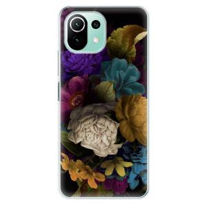 Odolné silikonové pouzdro iSaprio - Dark Flowers na mobil Xiaomi Mi 11 Lite / Xiaomi 11 Lite 5G NE