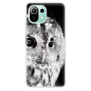 Odolné silikonové pouzdro iSaprio - BW Owl na mobil Xiaomi Mi 11 Lite / Xiaomi 11 Lite 5G NE