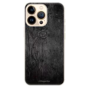 Odolné silikonové pouzdro iSaprio - Black Wood 13 na mobil Apple iPhone 13 Pro Max