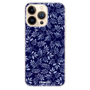 Odolné silikonové pouzdro iSaprio - Blue Leaves 05 na mobil Apple iPhone 13 Pro Max