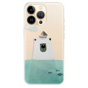 Odolné silikonové pouzdro iSaprio - Bear With Boat na mobil Apple iPhone 13 Pro Max