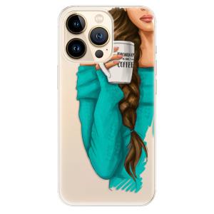 Odolné silikonové pouzdro iSaprio - My Coffe and Brunette Girl na mobil Apple iPhone 13 Pro Max
