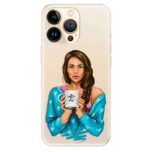 Odolné silikonové pouzdro iSaprio - Coffe Now - Brunette na mobil Apple iPhone 13 Pro Max