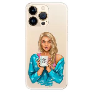 Odolné silikonové pouzdro iSaprio - Coffe Now - Blond na mobil Apple iPhone 13 Pro Max