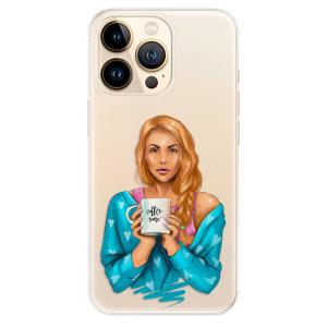 Odolné silikonové pouzdro iSaprio - Coffe Now - Redhead na mobil Apple iPhone 13 Pro Max