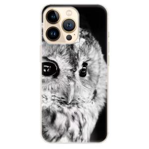 Odolné silikonové pouzdro iSaprio - BW Owl na mobil Apple iPhone 13 Pro Max