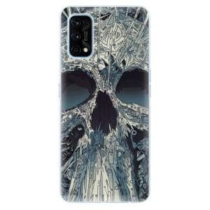 Odolné silikonové pouzdro iSaprio - Abstract Skull na mobil Realme 7 Pro