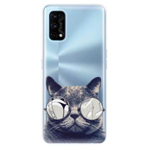 Odolné silikonové pouzdro iSaprio - Crazy Cat 01 na mobil Realme 7 Pro