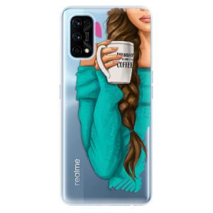 Odolné silikonové pouzdro iSaprio - My Coffe and Brunette Girl na mobil Realme 7 Pro